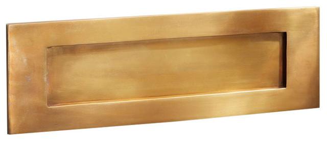Letter Plate, 353mm, Antique Satin Brass