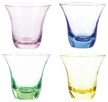 Qualia Aurora Double Old Fashioned Glasses Set Of 4