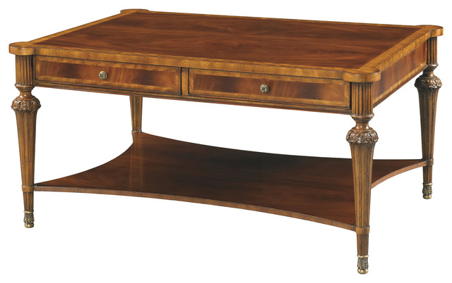 Hickory White Rectangular Cocktail Table 893 11 Coffee Tables By Benjamin Rugs And Furniture