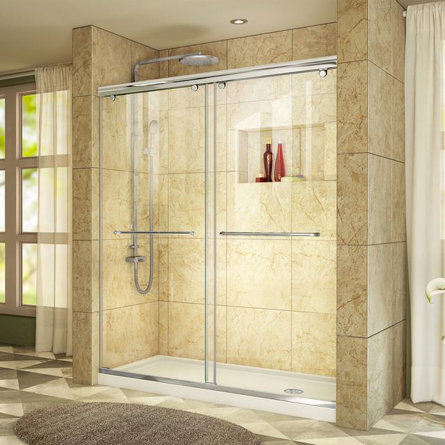 Charisma 30 D X 60 W X 78 3 4 H Frameless Sliding Shower Door