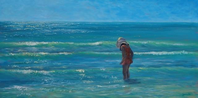 Original Tropical Seascape Painting  Siesta Key