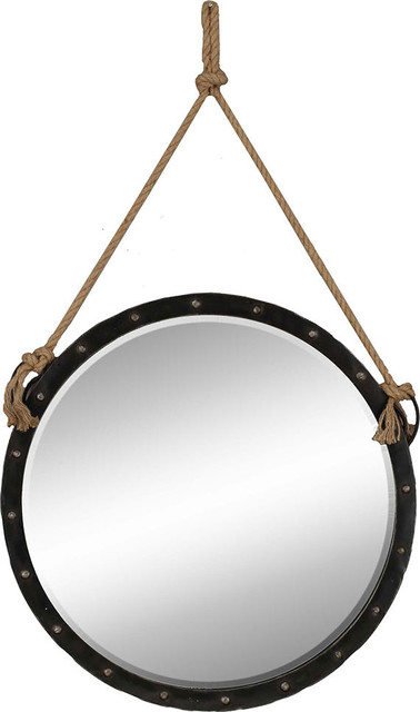 Nautical Wall Mirror nautical mirror - beach style - wall mirrors -hedgeapple