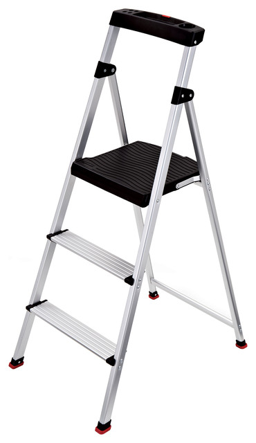 Astounding Rubbermaid 3 Step Lightweight Aluminum Step Stool With Project Top Inzonedesignstudio Interior Chair Design Inzonedesignstudiocom