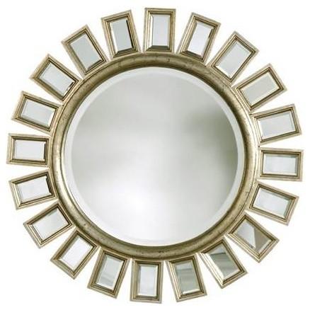 Uttermost Cyrus Round Silver Mirror.