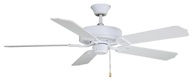 Fanimation Aire Decor 52 Ceiling Fan With 5-Blade, Matte White.