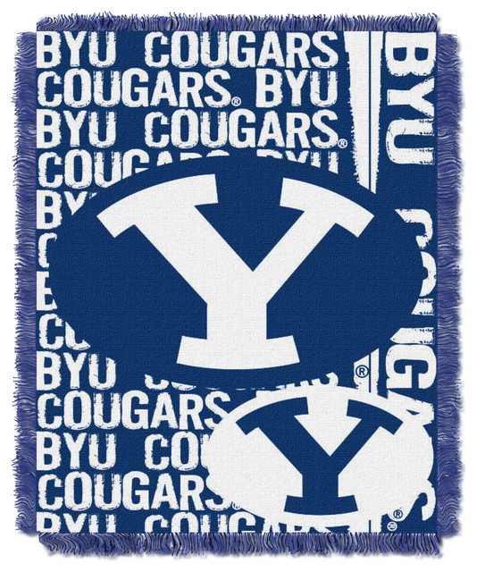 BYU Double Play Woven Jacquard traditional-throws