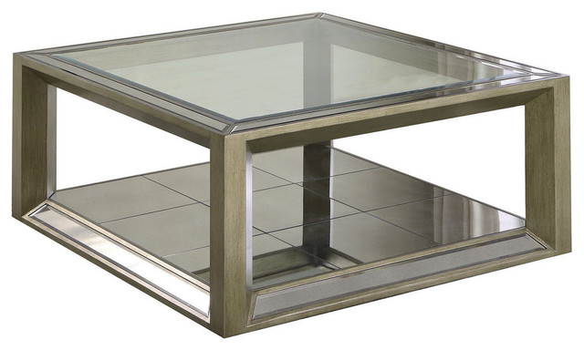 Super Pascual Dull Gold With Antique Mirrored Coffee Table Dailytribune Chair Design For Home Dailytribuneorg