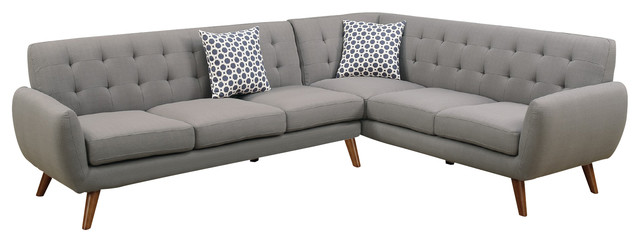 Modern Retro Sectional Sofa Taupe Gray midcentury-sectional-sofas  sc 1 st  Houzz : sectional modern - Sectionals, Sofas & Couches