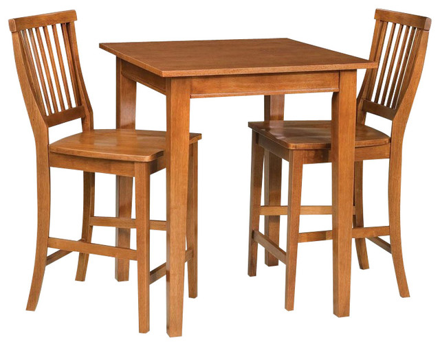 arts and crafts 3piece bistro set cottage oak