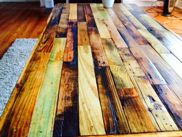 Reclaimed Pallet Coffee Table Rustic