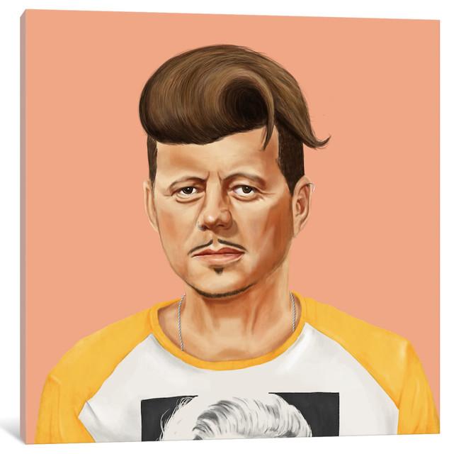 """john Kennedy"" By Amit Shimoni, 18x18x1.5""."