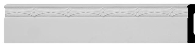 "Sussex Baseboard Molding, 4""hx 5/8""p X 96""l."