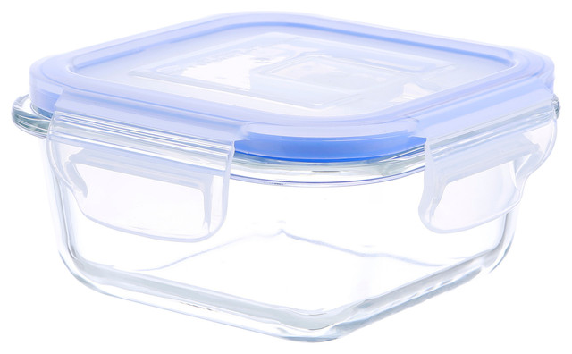 Square Glass Food Container With Vented Lid Removable Silicone 17