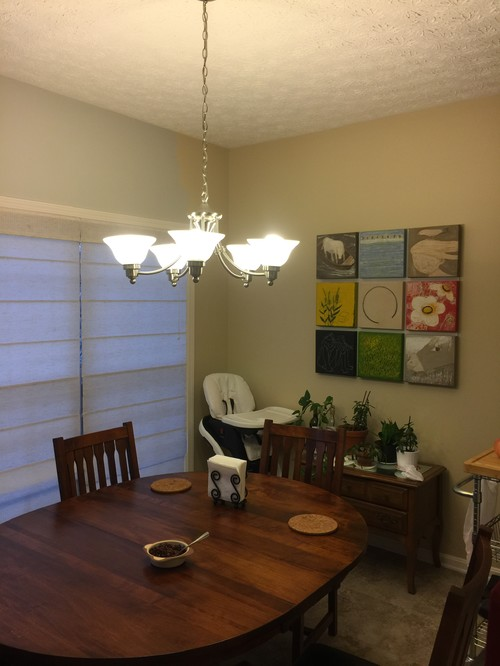In The Photo Above Left Wall Was Painted With Repose Gray Right Art Is Current Dining Room Color Most Of Our Furniture Solid