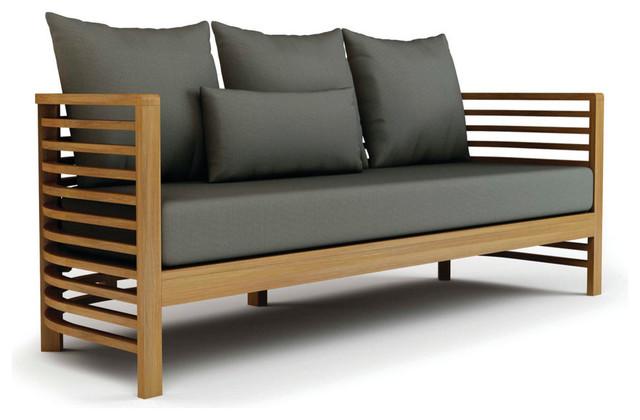 Spirals Teak Collection, 3 Seater Sofa Craftsman Outdoor Sofas