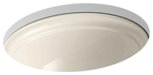 "Kohler Devonshire 18-1/8"" Under-Mount Bathroom Sink, Almond"