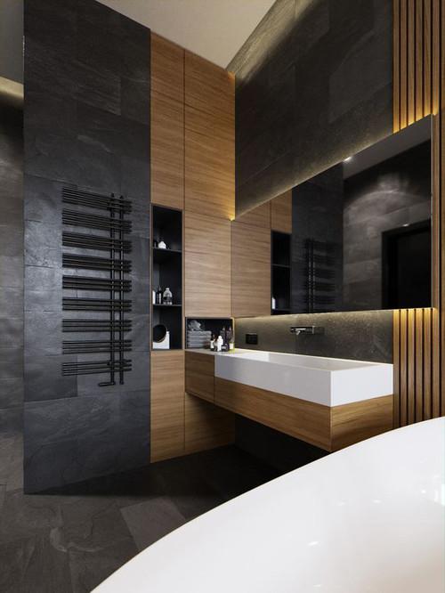 Как сделать ванную из дерева 87