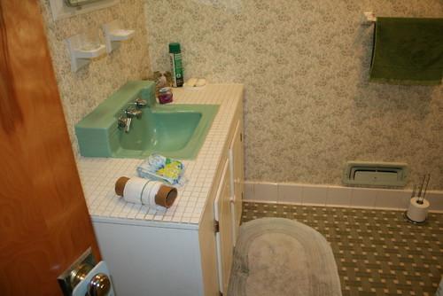 retro green bath any ideas on fixing it up