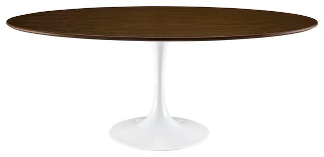 Lippa 78 Wood Dining Table, Walnut