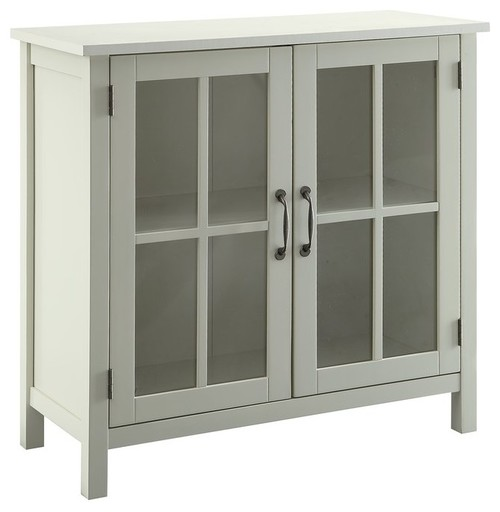 Wooden Accent Standard Cabinet With 2 Door