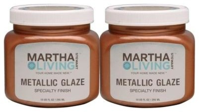 Martha Stewart Living 10 Ounce Copper Penny Metallic Glaze
