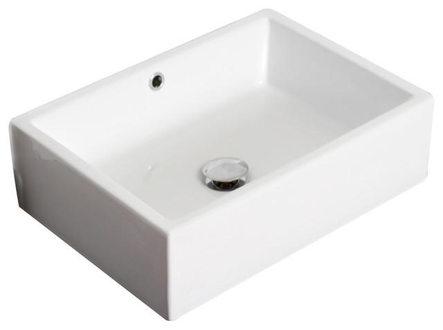 Round Undermount Sink White Single Hole Cupc Faucet Drain Modern Bathroom
