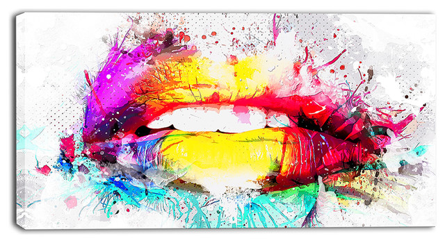 """""""vibrant Lips"""" Canvas Painting."""