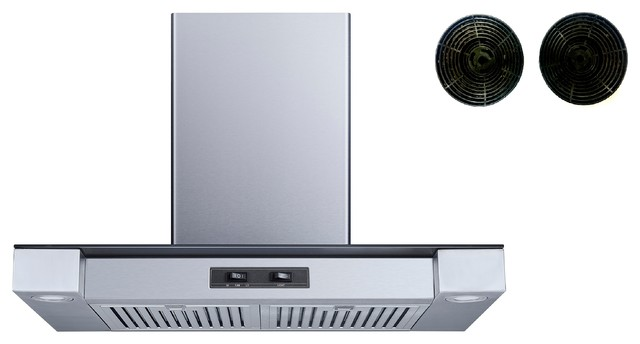 Winflo 30 400 Cfm Convertible Wall Mount Range Hood With Carbon Filters.