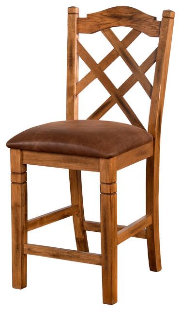 sedona double crossback counter stool stools