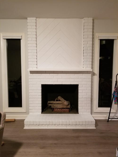 paint sheen for white fireplace. Black Bedroom Furniture Sets. Home Design Ideas