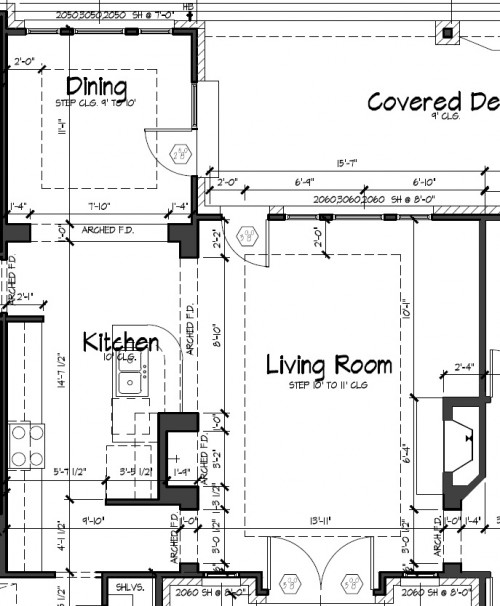 New home design i 39 m concerned about the trayed ceiling for 10 foot ceiling house plans