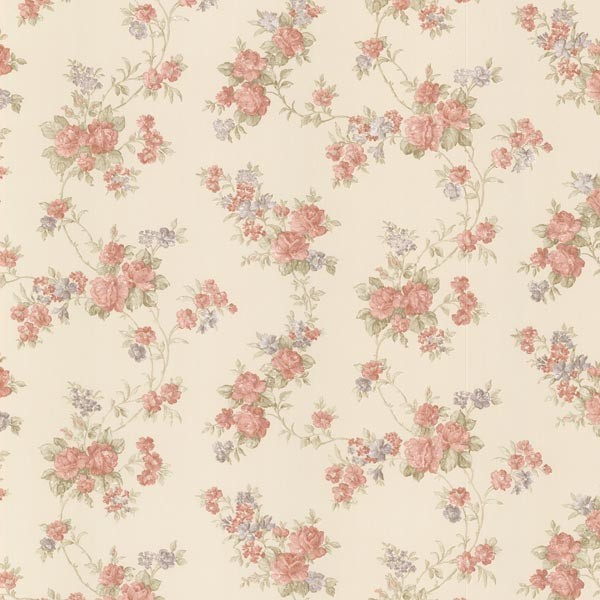 Roesia Red Rose Trail Wallpaper Traditional Wallpaper By