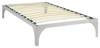 Ollie Twin Bed Frame, Silver