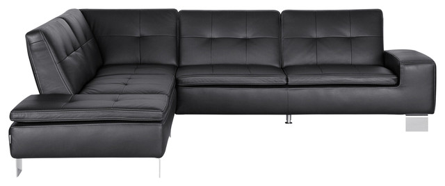 Francesca Leather Sectional Right Seated Sectional Sofas