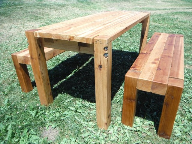 BOLT   [CEDAR PATIO TABLE U0026 BENCHES] Farmhouse Patio Furniture And