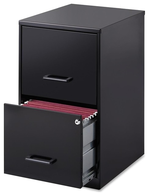 "Lorell - Lorell Soho 18 2-Drawer File Cabinet, 14.3""X18""X24"", Plastic, Steel - View in Your Room ..."