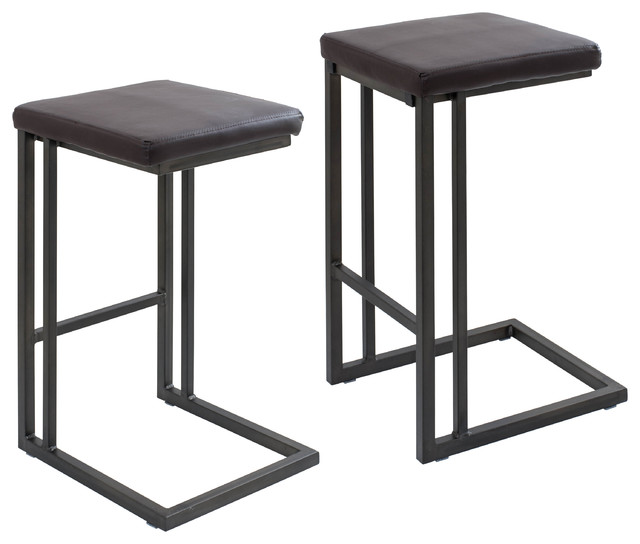 Roman Industrial-Style Counter Stools Set of 2 Espresso industrial-bar-  sc 1 st  Houzz & Roman Industrial-Style Counter Stools Set of 2 Espresso ... islam-shia.org