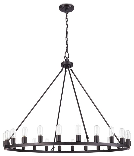 Oil Rubbed Black 24-light Chandelier