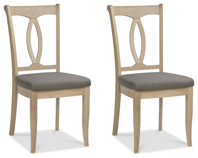 Bourne Transitional Dining Chairs, Set Of 2.
