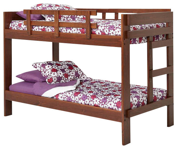 Chelsea Home Twin Over Twin Bunk Bed In Dark Traditional