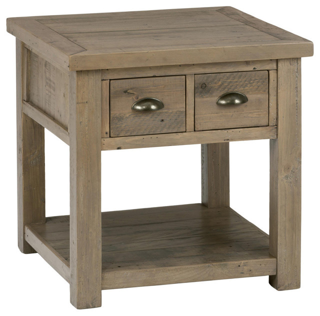 end tables with drawers 2 Drawer End Table   Farmhouse   Side Tables And End Tables   by  end tables with drawers