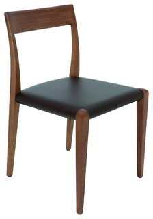 Ameri Dining Chair, Black Leather