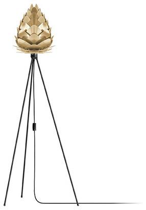 "Conia 57"" Tripod Floor Lamp, Black/brushed Brass."