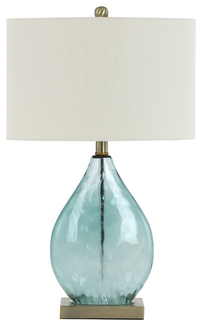Julianne Glass Table Lamp Contemporary Table Lamps By Aspire
