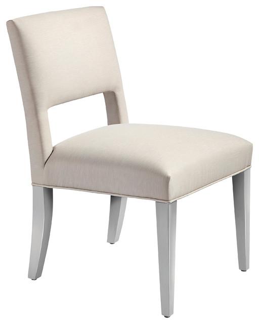 Surprising Iris Modern Beige Upholstered Outdoor Open Back Dining Side Chair Dailytribune Chair Design For Home Dailytribuneorg