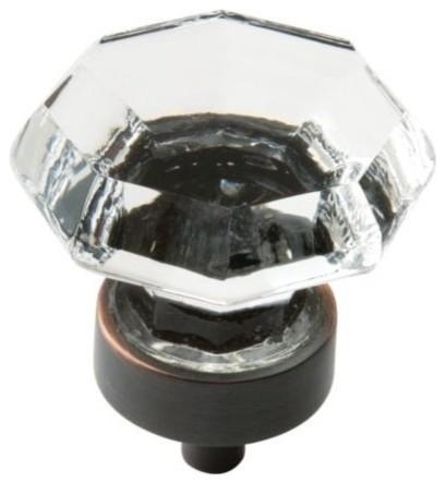 Cosmas 404orb Oil Rubbed Bronze Slim Line Euro Style Cabinet T-Knob, Set Of 25