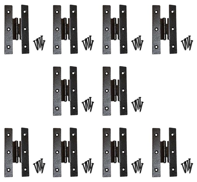 """The Renovator's Supply Inc. - Cast Iron Cabinet H Hinge Style 3 1/2"""" H 3/8"""" Offset Set of 10 ..."""
