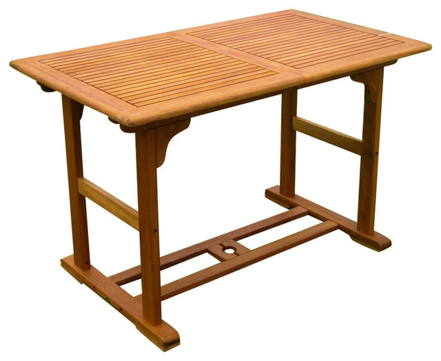Royal Tahiti Butterfly Leaf Table,Brown Stain Outdoor Dining Tables