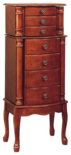 Powell Classic Cherry Jewelry Armoire.
