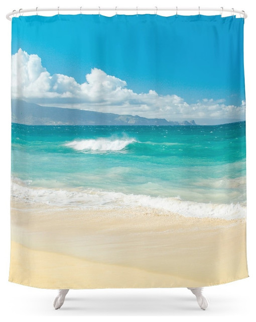 society6 hawaii beach treasures shower curtain tropical. Black Bedroom Furniture Sets. Home Design Ideas